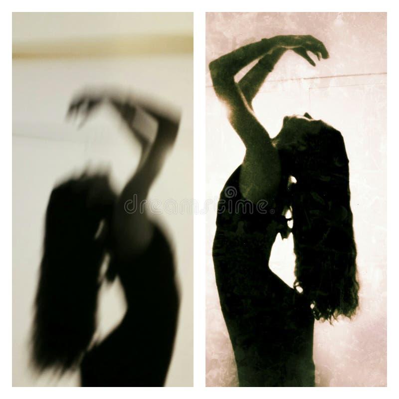 Ich und mein Schatten stockbild
