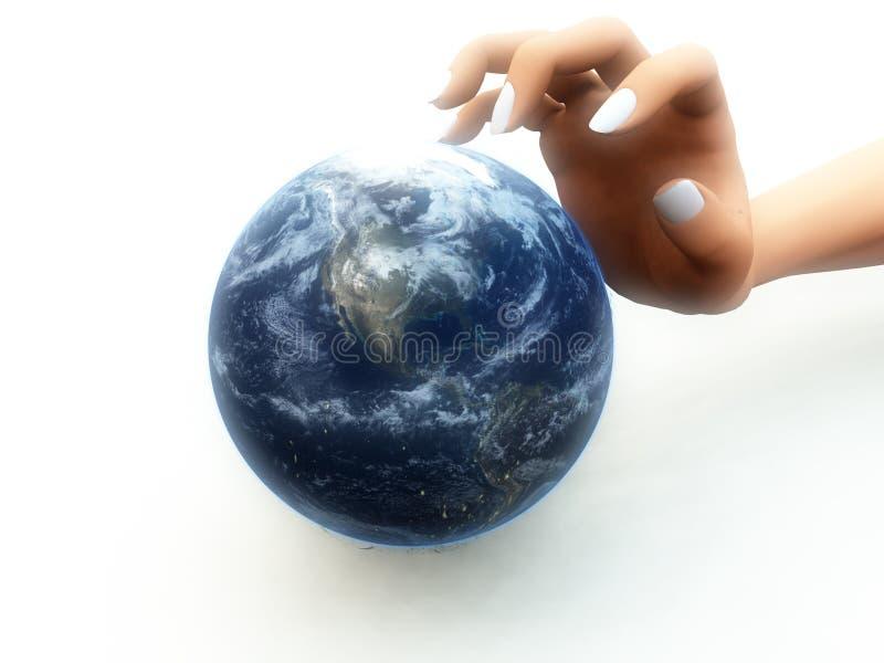Ich wünsche die Welt stock abbildung