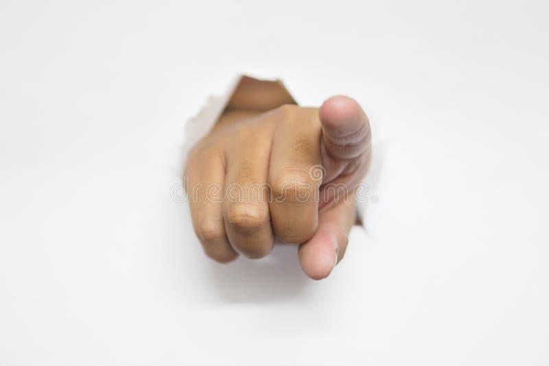 Ich wünsche Sie - ich wähle Sie -, das wir Sie Finger zeigend wünschen stockbild