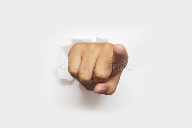 Ich wünsche Sie - ich wähle Sie -, das wir Sie Finger zeigend wünschen stockfotografie
