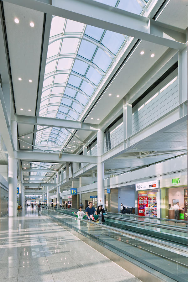 Icheon International Airport interior, Seoul, South Korea. SEOUL-OCT. 24, 2015. Incheon International Airport interior. It is South Korea largest airport royalty free stock photos