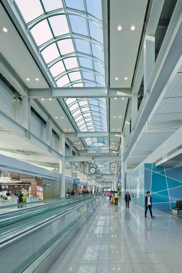 Icheon International Airport interior, Seoul, South Korea. SEOUL-OCT. 24, 2015. Incheon International Airport interior. It is South Korea largest airport royalty free stock photography