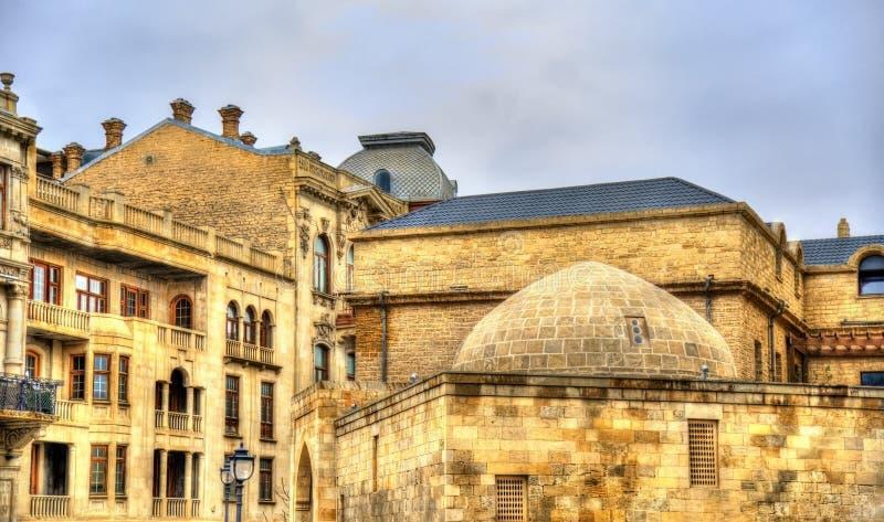 Icheri Sheher, la vieille ville de Bakou images stock