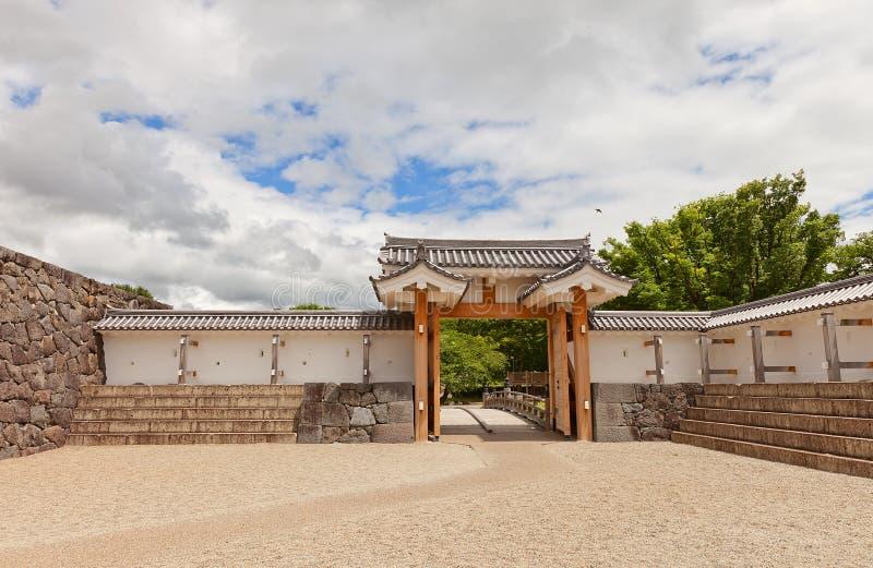 Ichimonji Gate of Main Bailey of Yamagata Castle, Japan. Reconstructed 2014 Ichimonji Gate of Main Bailey of Yamagata Castle, Japan. Castle founded in 1356 royalty free stock photo