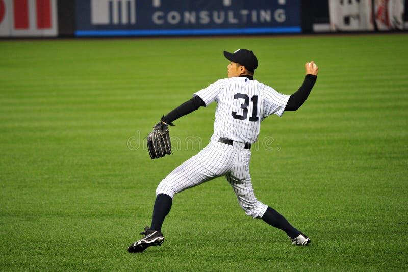 Ichiro Suzuki in de Krijtstreep van Yankee stock foto's