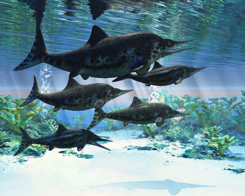 Ichthyosaur vektor illustrationer