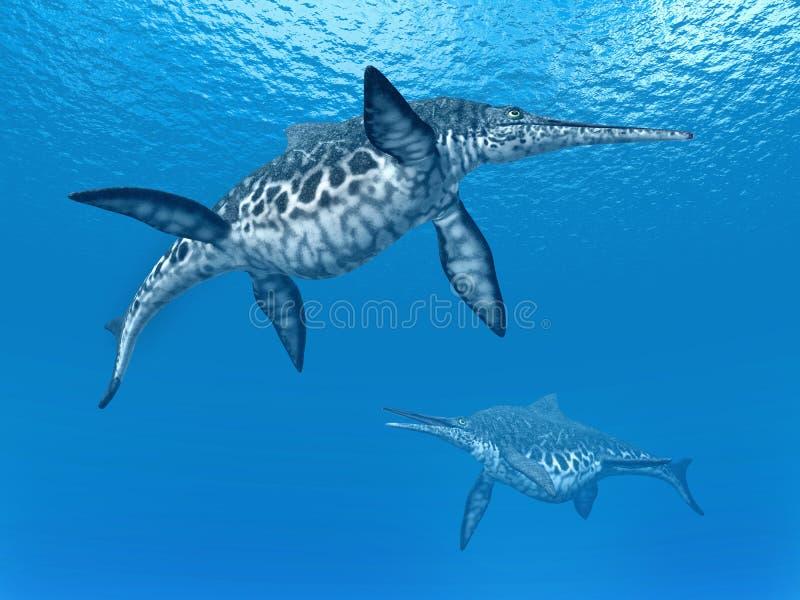 Ichthyosaur Shonisaurus illustration de vecteur