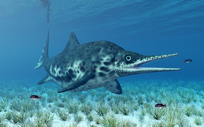 Ichthyosaur Shonisaurus illustration stock