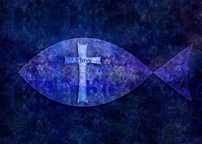 Ichtys-Christzeichen lizenzfreie abbildung