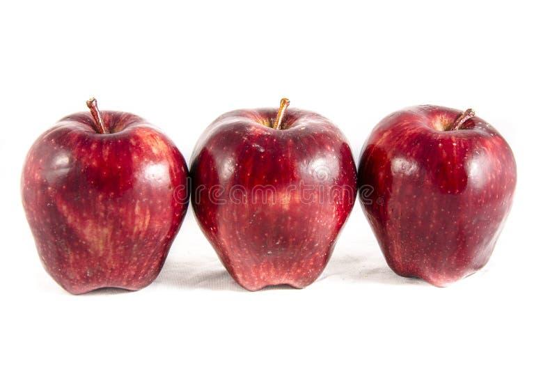 Ici nous avons de la grande pomme rouge photographie stock
