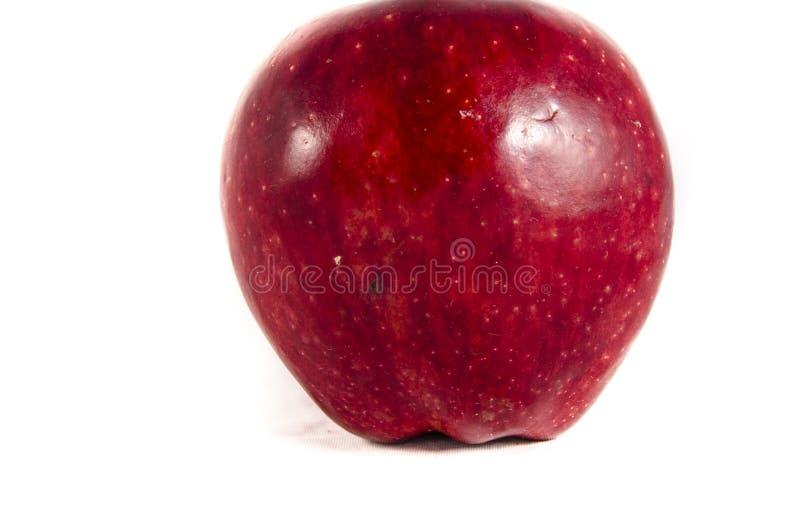 Ici nous avons de la grande pomme rouge images stock
