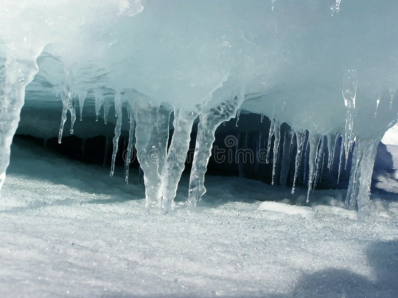 Icicle. Iceicles in Antarctica royalty free stock photo