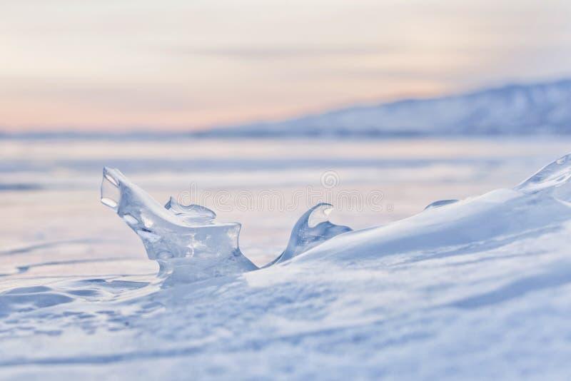 icicle Gelo do Lago Baikal foto de stock royalty free