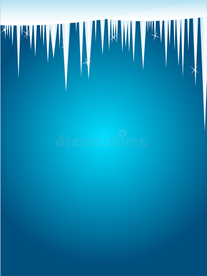 Icicle winter card stock illustration