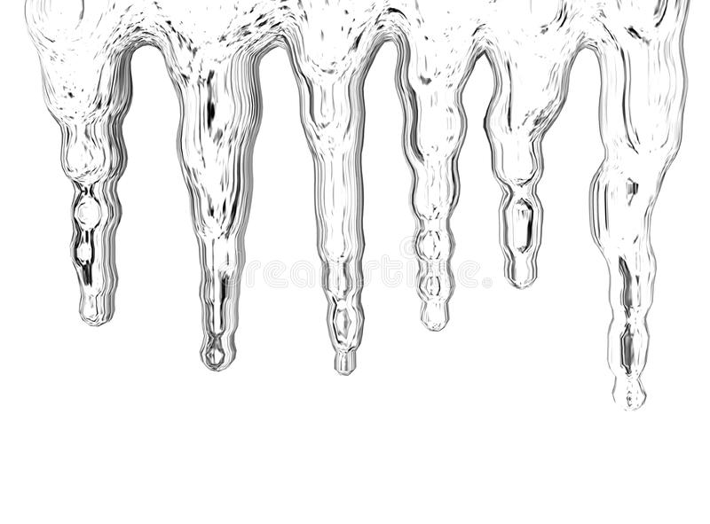 Icicles vector illustration