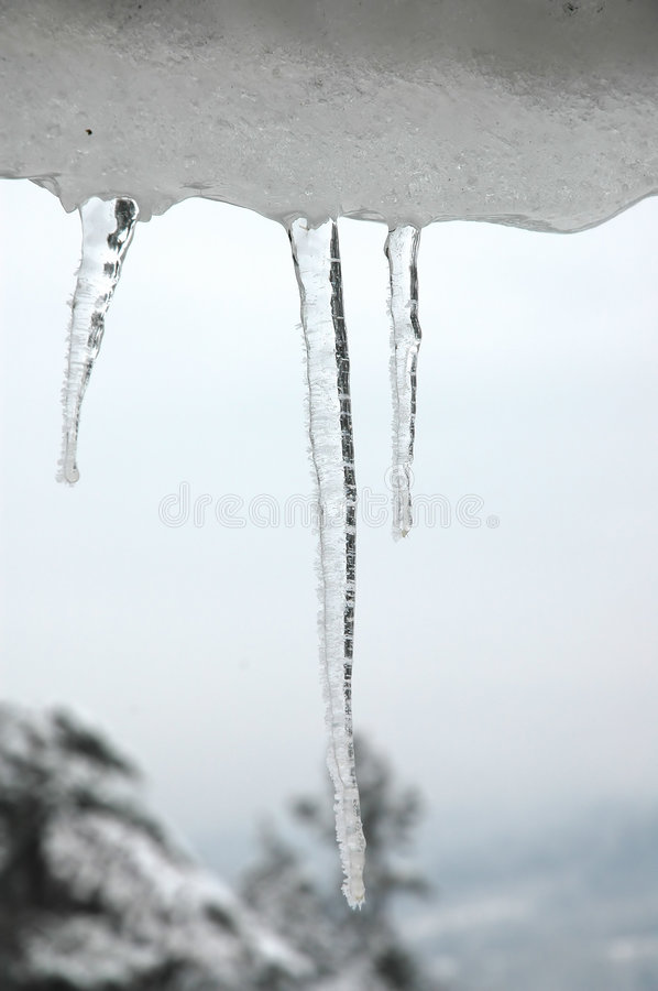Download Icicles #4 stock image. Image of roof, hang, december, season - 450603