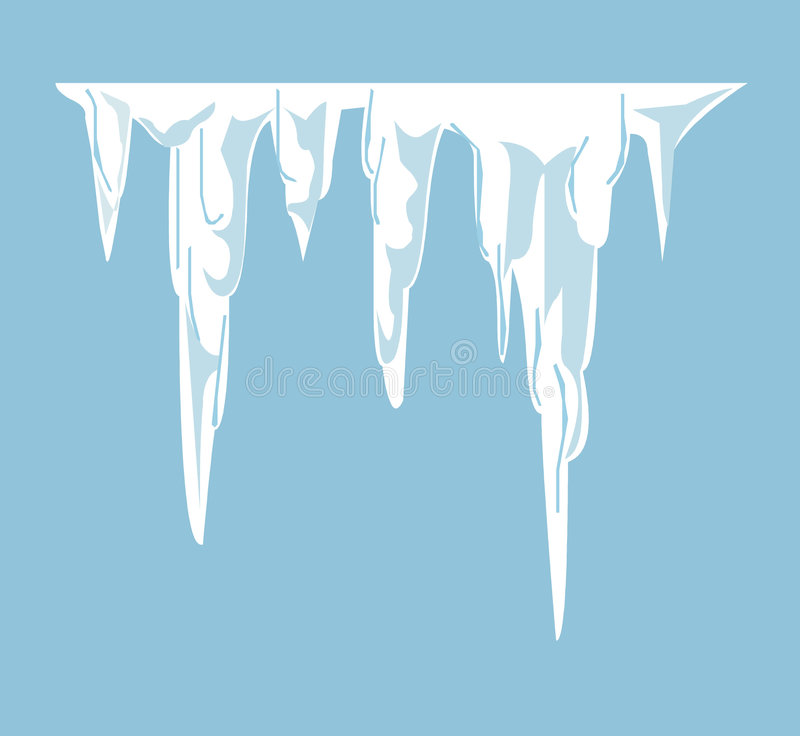 Icicles stock illustration