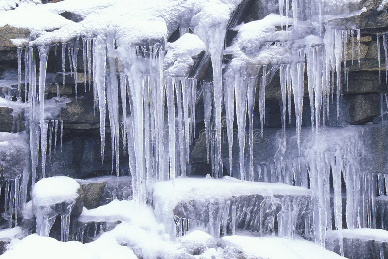 Download Icicles on Rocks stock photo. Image of tranquil, frozen - 26259676