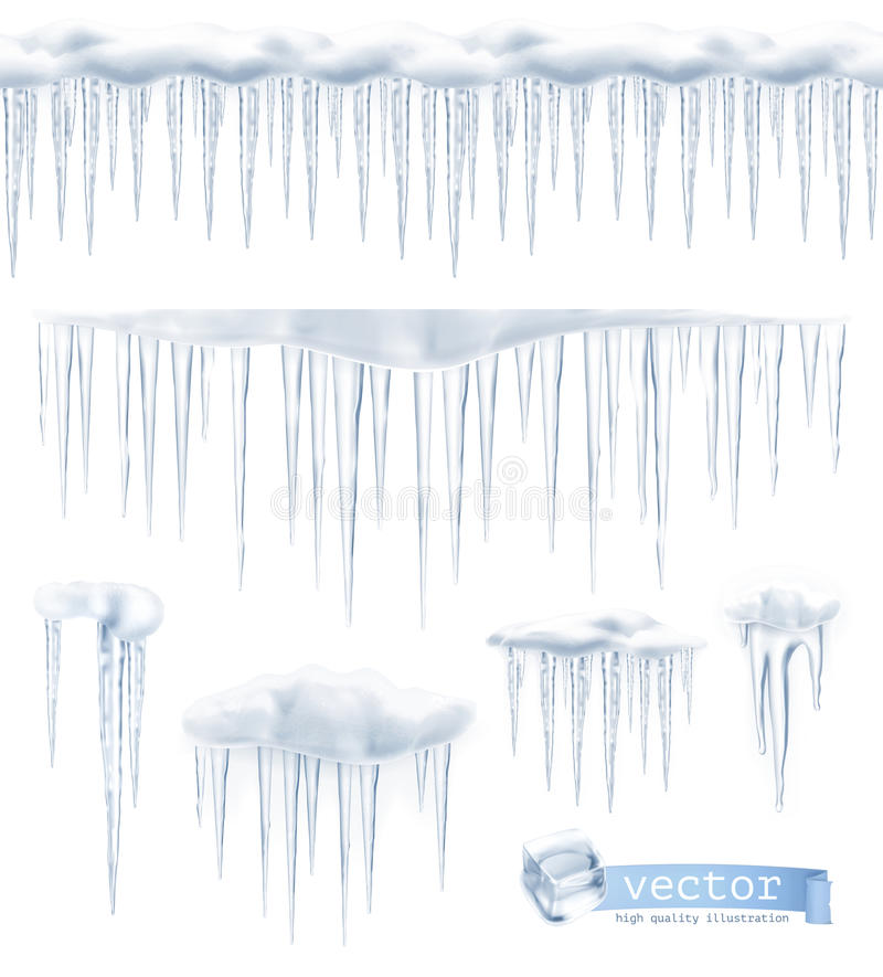 Free Icicles Vector Illustration Royalty Free Stock Images - 57245799