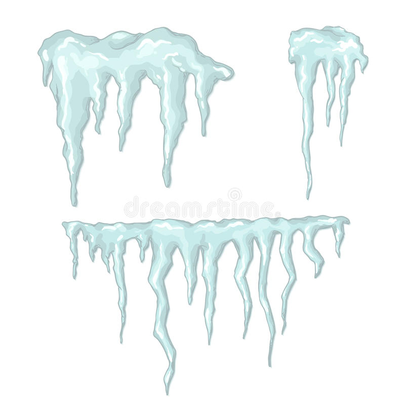 Icicles. Winter theme. Vector illustration. royalty free illustration
