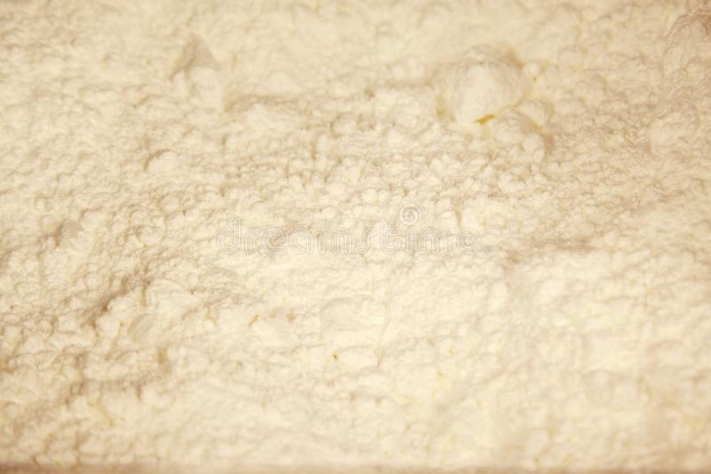 Icing or frosting sugar. Powdered or fine icing sugar in a bin royalty free stock images