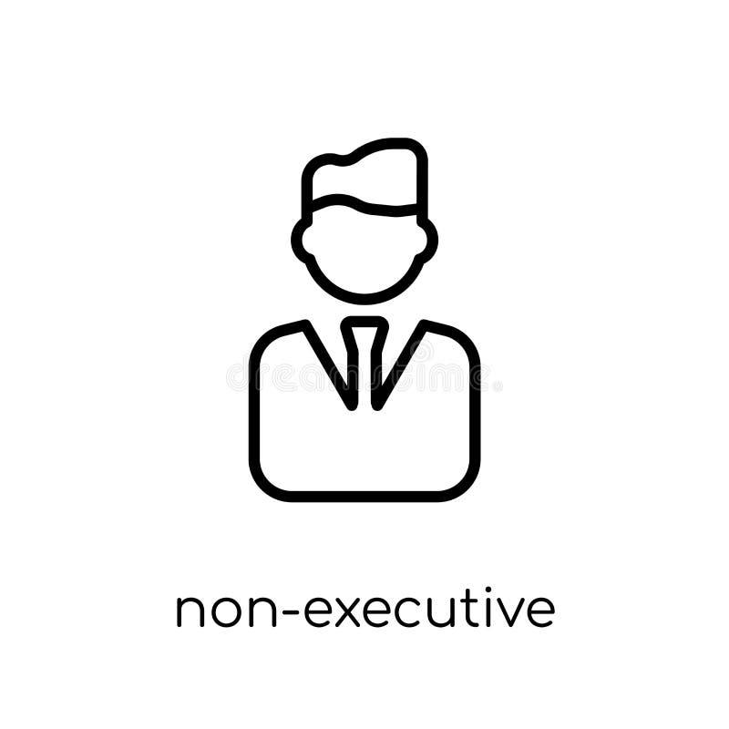 Icke-ledare direktörsymbol  royaltyfri illustrationer