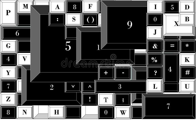 Icke-standard räknemaskin som beräknar enkla beräkningar royaltyfri illustrationer