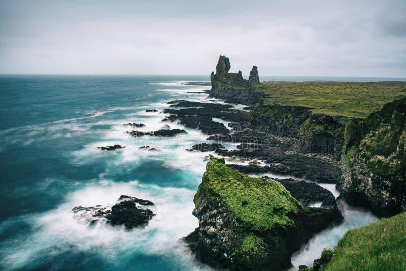 Icland havslandskap arkivbilder