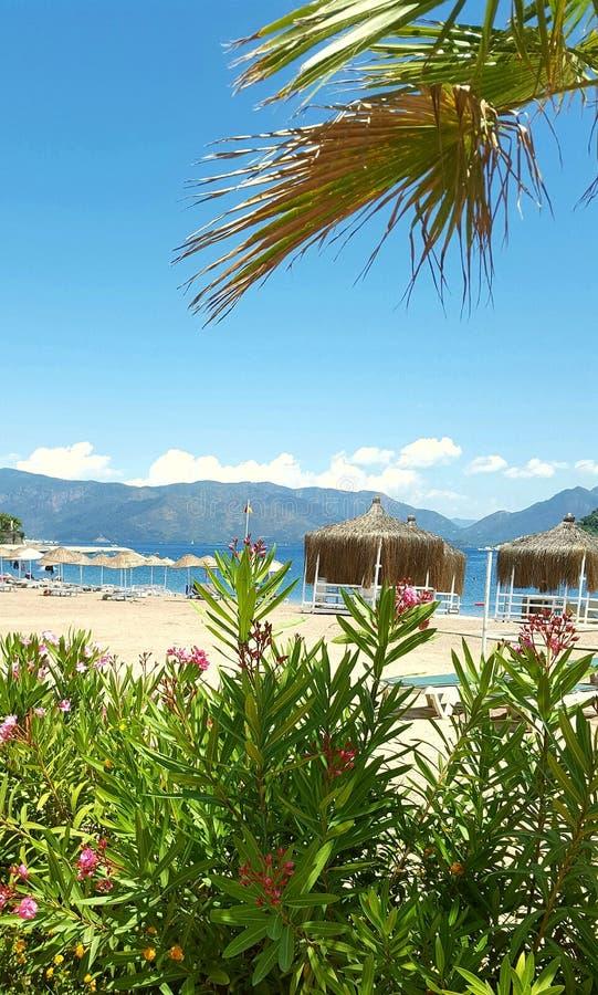 Icmeler beach stock image