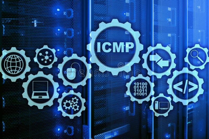 Icmp Internet wiadomości Kontrolny protokół pojęcia projekta ilustracyjny sieci wektor Serweru pokój na tle ilustracji