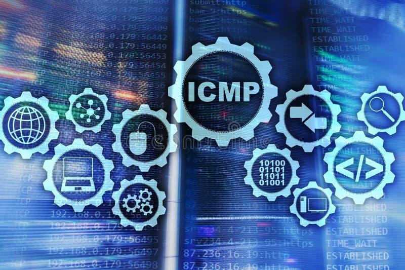 ICMP Protocolo ICMP Concepto de la red Sitio del servidor en fondo ilustración del vector