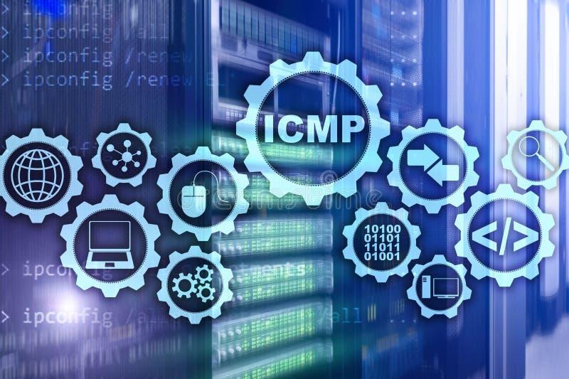 ICMP Protocolo ICMP Concepto de la red Sitio del servidor en fondo stock de ilustración