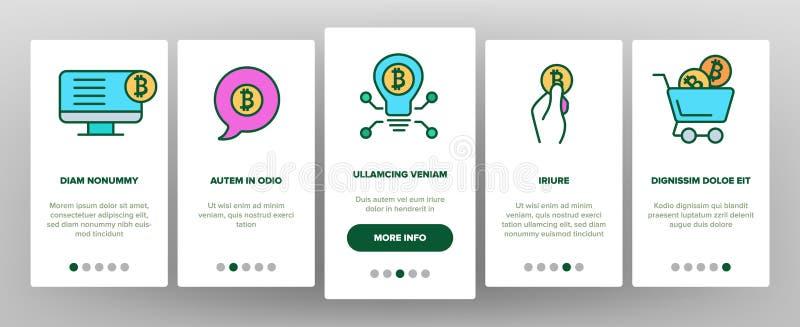 ICO,Bitcoin传染媒介Onboarding 皇族释放例证