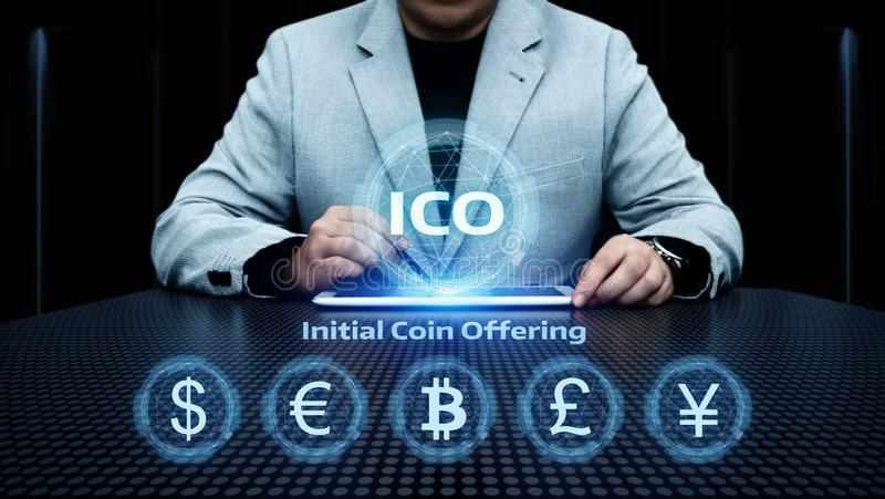 ICO Initial Coin Offering Business Internet Technology Concept royalty free stock images