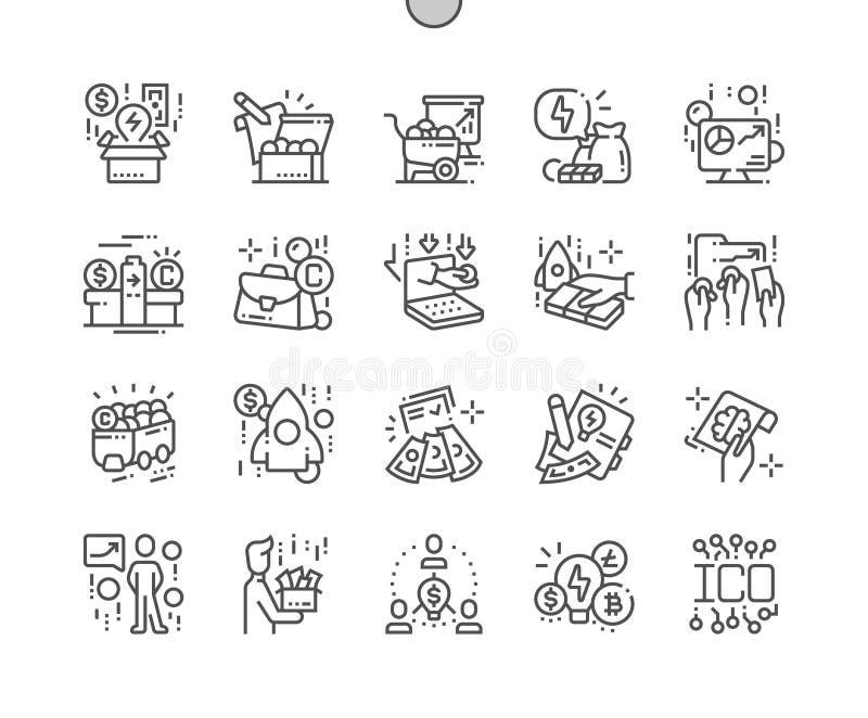 ICO piksla Perfect wektoru ikon 30 żeton Wykonująca ręcznie Cienka Kreskowa 2x siatka dla sieci Apps i grafika ilustracja wektor