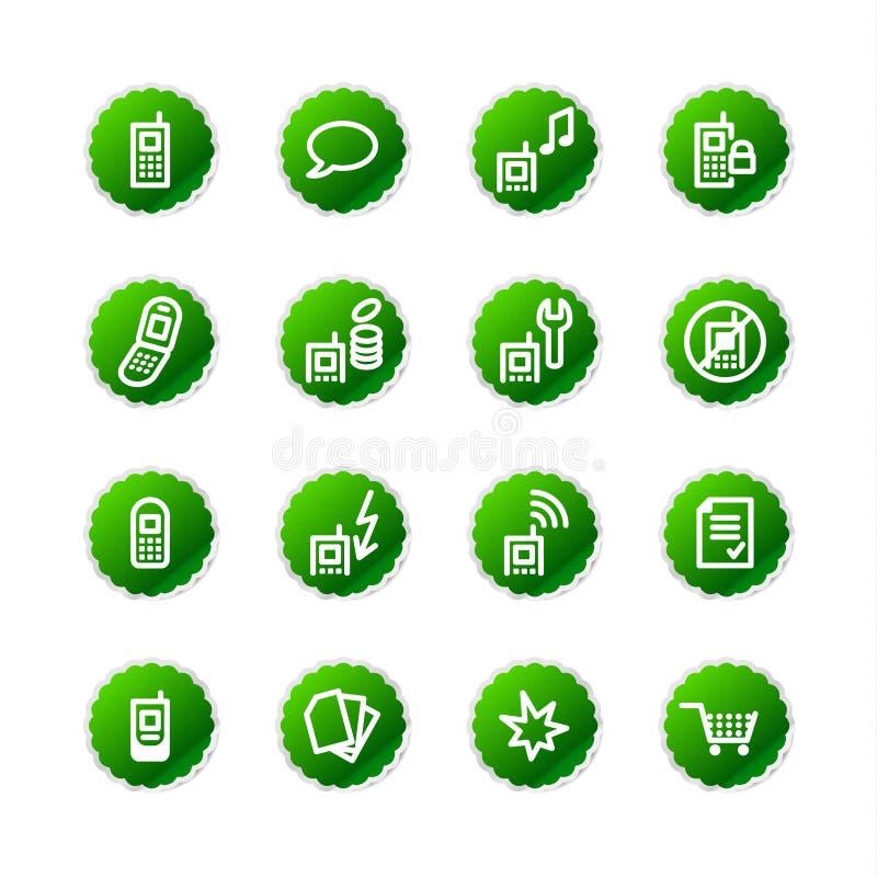 Ico verde del telefono mobile dell'autoadesivo royalty illustrazione gratis