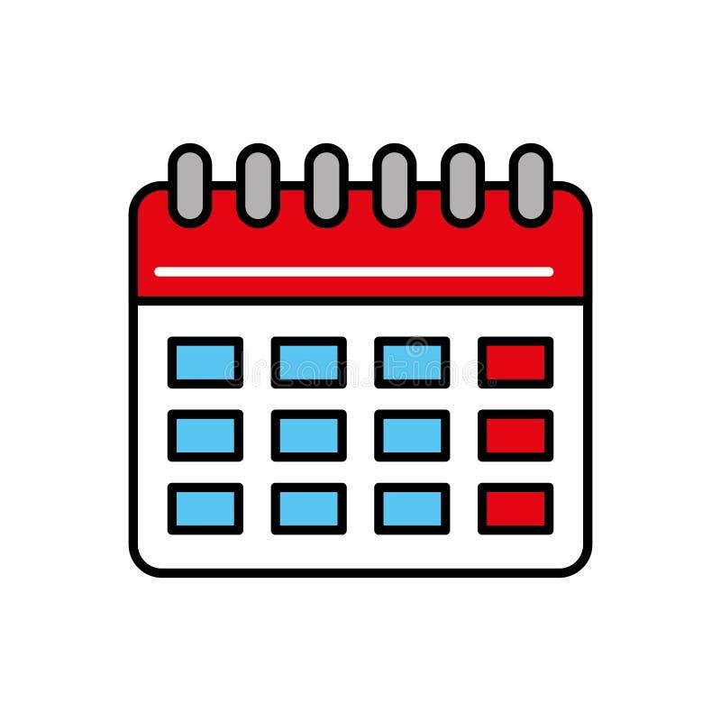 Icom för datum för kalenderplanpåminnelse royaltyfri illustrationer