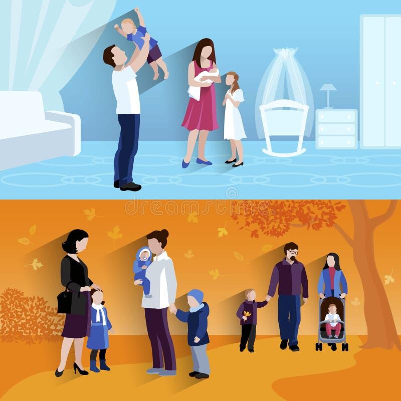 Icomposition liso das bandeiras da paternidade 2 ilustração do vetor