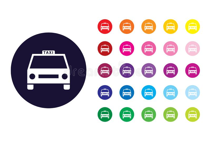 Taxi sign icon. Taxi color symbol. vector illustration