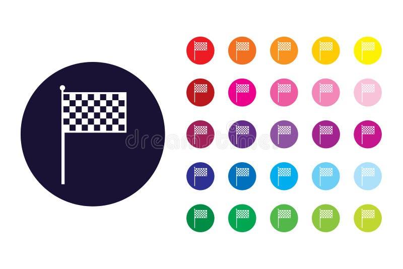 Race flag sign icon. Race flag color symbol. vector illustration
