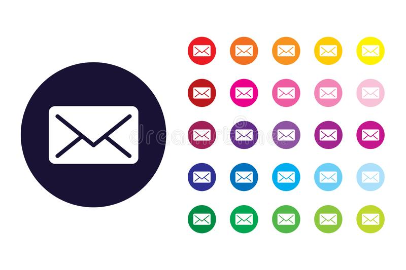Mail sign icon. Mail color symbol. This is mail sign icon design. vector file royalty free illustration