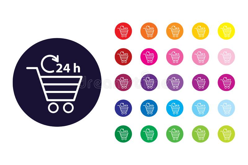 Shopping chart sign icon. Shopping chart color symbol. royalty free illustration