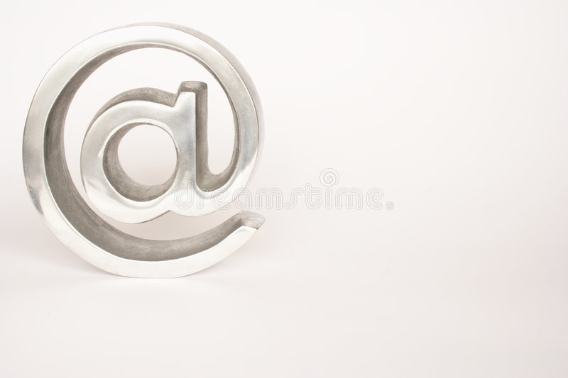 Icon. Symbol of arroba isolated in white background stock photo