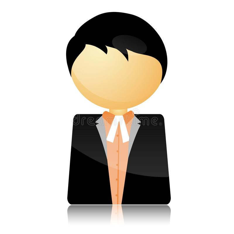 Icon of advocate. Illustration of icon of advocate on isolated white background vector illustration