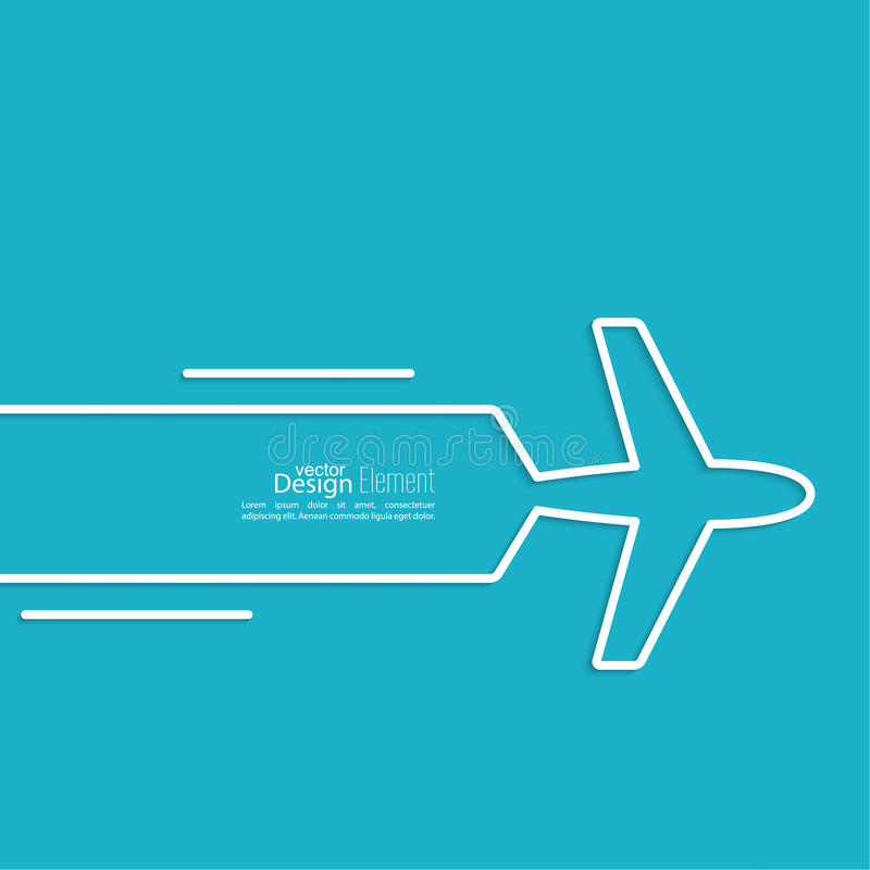 Icon airplane vector illustration