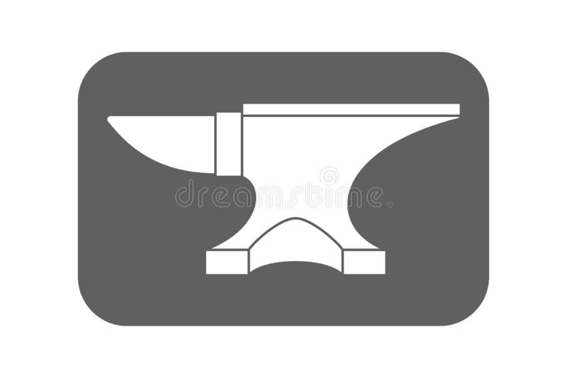 Anvil graphic sign stock illustration