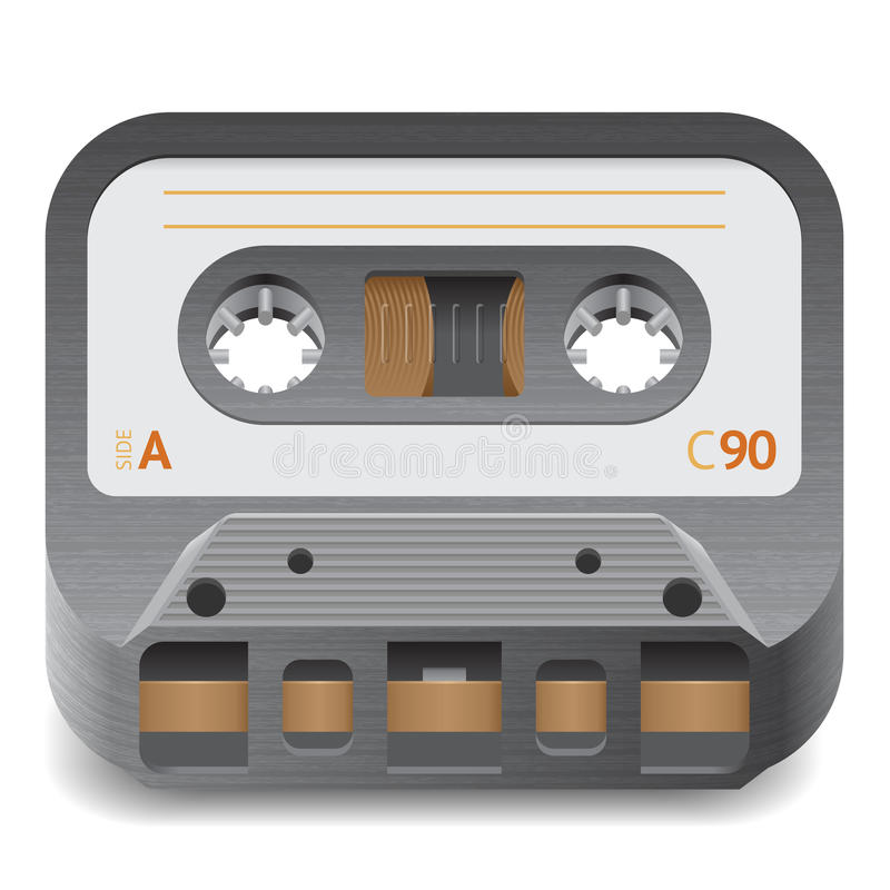 Download Icon for audio cassette stock vector. Image of symbol - 25389135