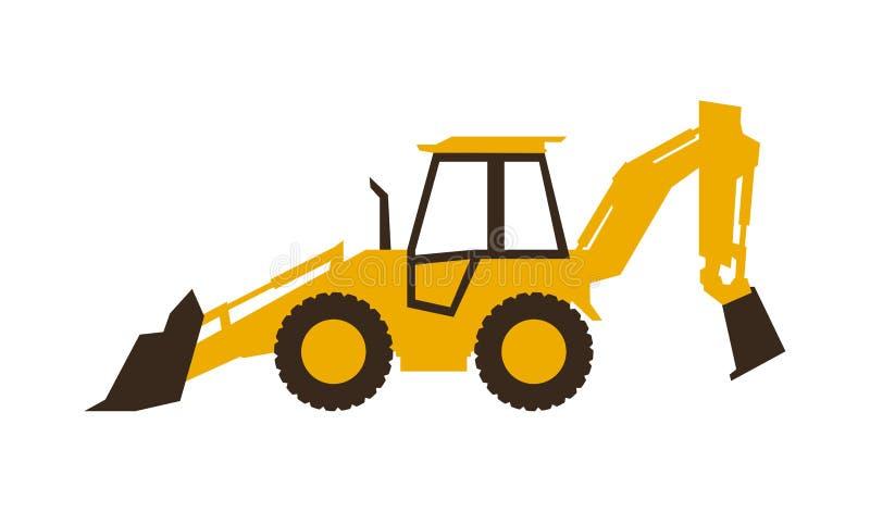 Icon backhoe loader. Construction machinery. Vector illustration. Sleek style. Icon backhoe loader. Construction machinery. Vector illustration. Sleek style stock illustration