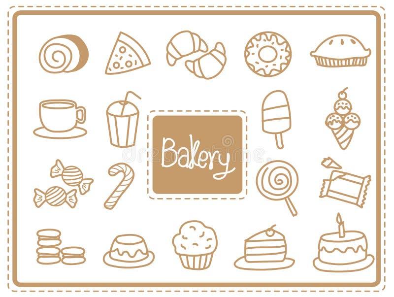 Icon bakery food royalty free stock photo