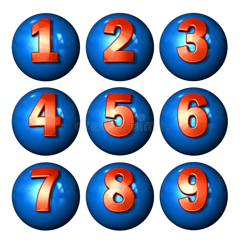 Icon Ball Numbers royalty free illustration